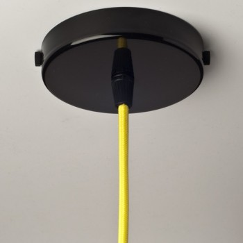 Steel ceiling rose with multiple cable outlet • Black color