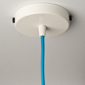 Steel ceiling rose with multiple cable outlet • White color