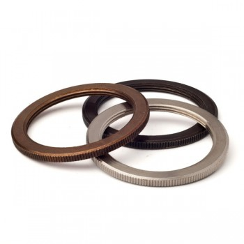 Shade ring for threaded brass lampholder e27