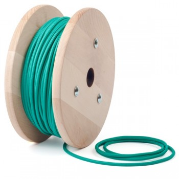 Emerald Green round textile cable