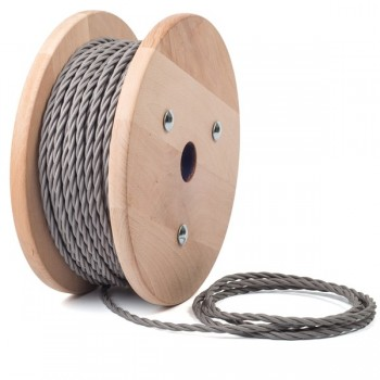 Ferro grey twisted textile cable