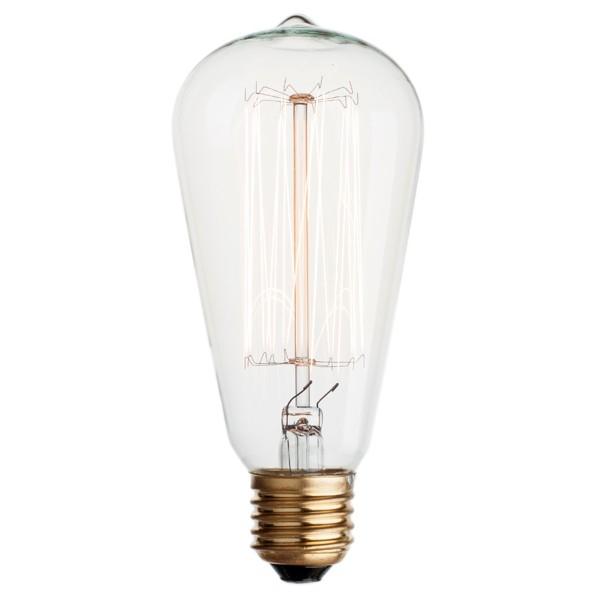 Vintage Edison Squirrel Cage Filament Light Bulb E27 40w
