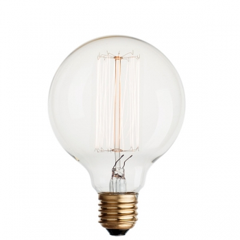 Vintage globe light bulb G95 • Vertical filament
