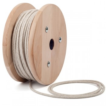 Light canvas round textile cable