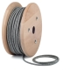 Dark canvas round textile cable