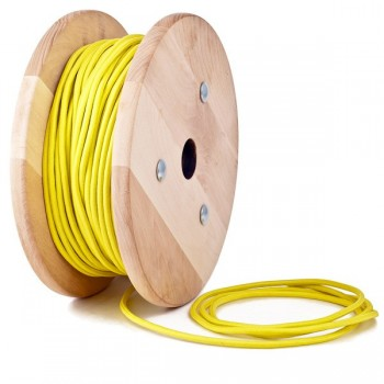 Yellow round textile cable
