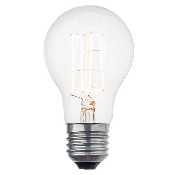 Decorative Light Bulb With Square Filament Pattern