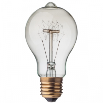 Vintage carbon imitation light bulb • Quad loop