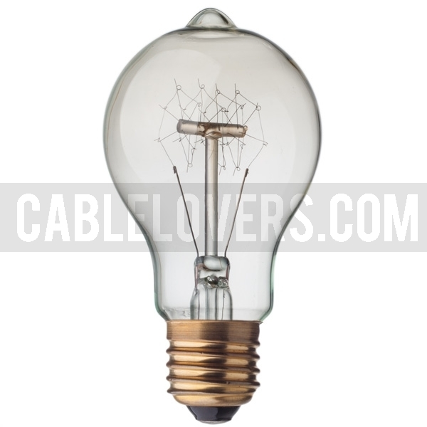 vinatge light bulb with carbon imitation filament. Black Bedroom Furniture Sets. Home Design Ideas