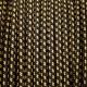 Саламандър шарка черно - жълт кабелен шнур с текстилна оплетка