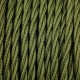 Cypress green twisted textile cable