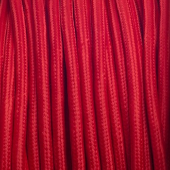 Red Round Textile Cable