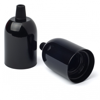Painted steel cup cover with Lampholder E27 | Black color