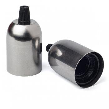 Steel cup cover with Lampholder E27 • Raw steel