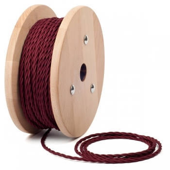 Bordeaux twisted textile cable