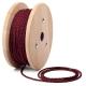 Бордо тройно усукан кабелен шнур с текстилна оплетка