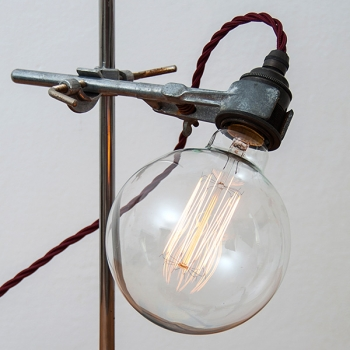 Big vintage globe light bulb G125 • Vertical filament • 40W