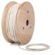 Кремаво бял кабелен шнур с текстилна оплетка