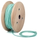 Pastel baby green round textile cable