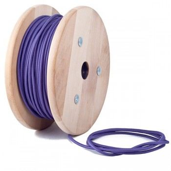 Purple Round Textile Cable