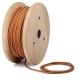 Whiskey brown round textile cable