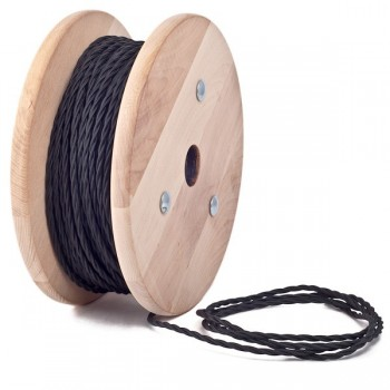 Black Twisted Textile Cable