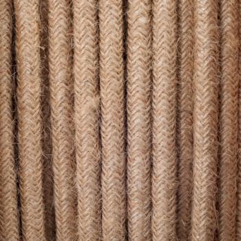 Hemp round textile cable