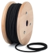 Black cotton round textile cable