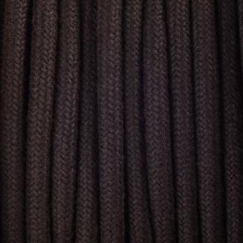 Dark brown cotton round textile cable
