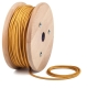 Gold round textile cable