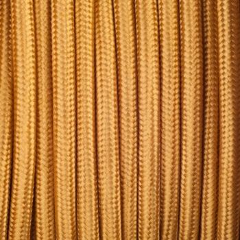 Златен кабелен шнур с текстилна оплетка