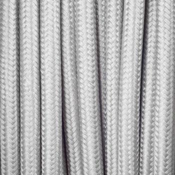 Сребърен кабелен шнур с текстилна оплетка