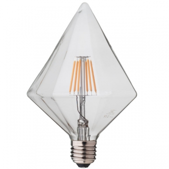 Sharp Diamond LED Filament Light Bulb Е27 • Dimmable
