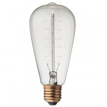 Vintage Edison spiral filament light bulb E27