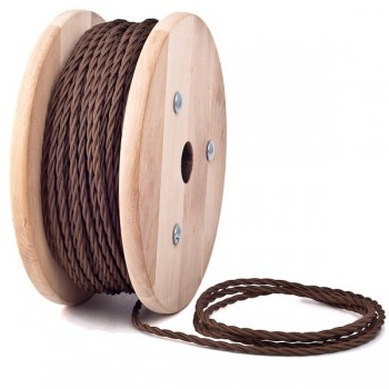 Brown Twisted Textile Cable