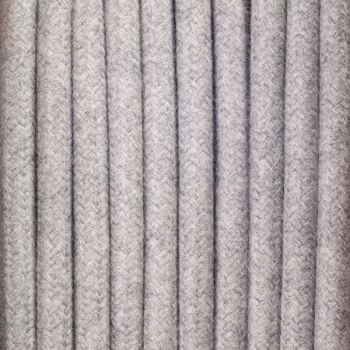 Concrete grey cotton round textile cable