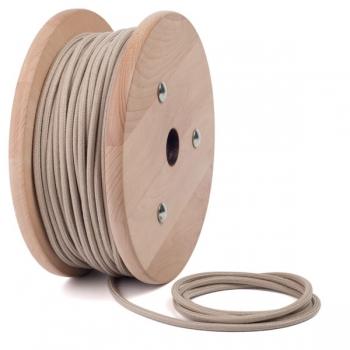 Бежов памучен текстилен кабел