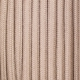 Beige cotton round textile cable
