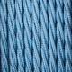 Небесно син тройно усукан памучен текстилен кабел