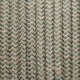 Текстилен памучен кабел бежово зелен зиг-заг