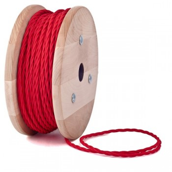Red Twisted Textile Cable