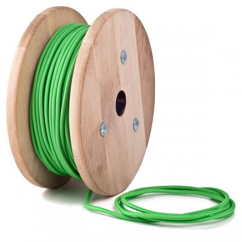 Apple green round textile cable