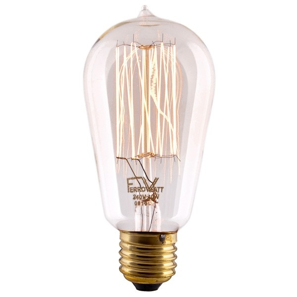 vintage edison filament bulb e27 squirrel cage. Black Bedroom Furniture Sets. Home Design Ideas