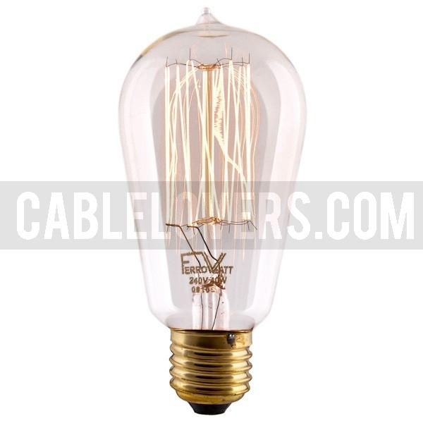 Vintage Edison Filament Bulb E27 Squirrel Cage