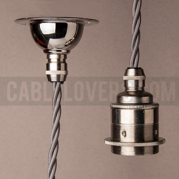 Retro Set Hanging Lamp With Twisted Cable Of Your Choice