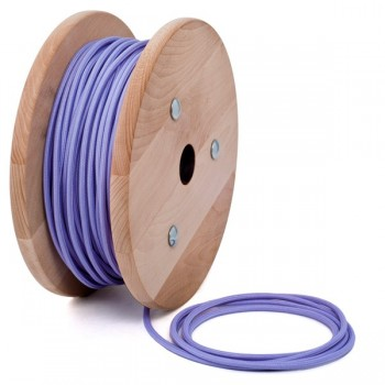 Light purple round textile cable