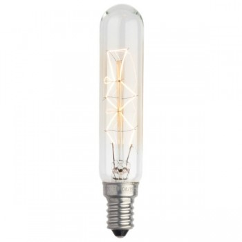 Decorative rustic glow mini tube filament light bulb E14