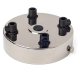 Ceiling rose with multiple cable outlet | Nickel plated
