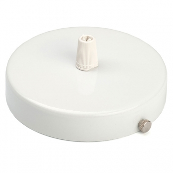 Ceiling rose with multiple cable outlet • White