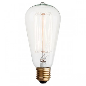 Vintage Edison squirrel cage filament light bulb E27